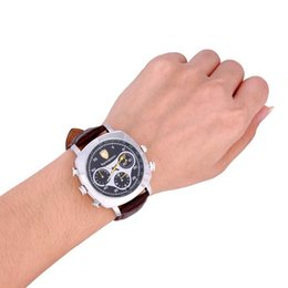 Wholesale Spy Camera Watches 16gb - waterproof Spy Watch Camera covert video recorder 16GB Fashionable Business Wrist Watch DVR Sport Watch Camera in retail box dropshipping
