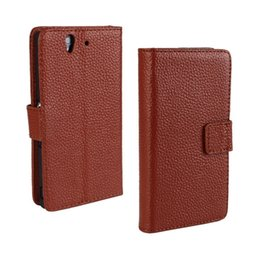 Wholesale L36h Case - For Sony Xperia Z L36H Lichee Genuine Wallet Really Leather Case Cover