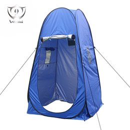 Wholesale Portable Toilet Outdoors - Wholesale- Portable Pop Up Dressing Changing Tent Beach Toilet Shower Changing Room Outdoor Shelter with Carrying Bag ZQ