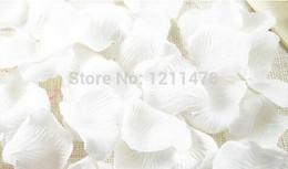 2019 bouquet di lusso 5,5 * 5,5 cm Lotto da 1000 pezzi bianco rosa e tessuto rosa petali di rosa per la decorazione di matrimoni