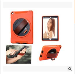 Wholesale gold ipad mini case - For iPad 3 4 5 6 Mini air Wristband With Stand Holder leather Case Cover Hot Hybrid PC Silicone Robot Shockproof Heavy Duty Mirror Protector