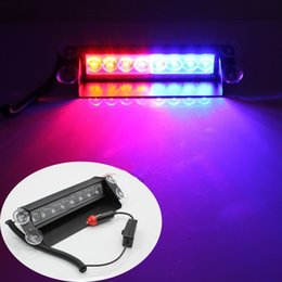 Wholesale Lighting Fireman - 8 LED High Power Strobe Lights with Suction Cups & Fireman Flashing Emergency Car Truck Light 8 LED Car Strobe Warning Tow Dash Light