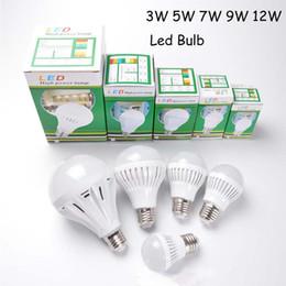 Wholesale Led 5w Cold - promotion 10pcs Led 3W 5W 7W 9W 12W Led Bulb E27 B22 Led Golbe Lamp 110V 220V Cold Warm White Epistar SMD 2835 Led Bulb Light Spotlight