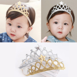 Wholesale Top Baby Accessories - Headbands For Girls Kids Tops Hair Accessories Tiaras Headbands With Star And Diamond Hair Sticks Gift For Girl Baby Girls Hair Accessories
