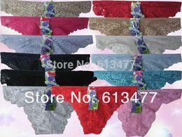 Wholesale Sexy Women S String - Wholesale-Women lace G-Strings shorts Briefs sexy underwear ladies panties lingerie bikini underwear pants thong intimate wear 86162-1