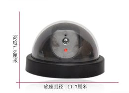 Wholesale Decoy Dvr Security - 50pcs lot Free Shipping Cheapest Emulational Fake Decoy Dome Security CCTV DVR for Home Camera with Red Blinking LED C2223