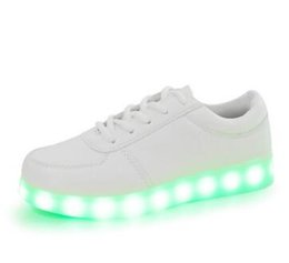 b4db4073c4ef2 chaussures led rose enfants Promotion Glowing Enfants casual Chaussures  avec USB rechargeable Enfants Led Light Up