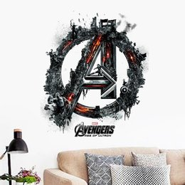 Wholesale Nature Figures - 3d The Super Hero Figures Avengers Vinyl Wall Stickers For Kids Rooms Pvc Wall Decals Home Decor Boy's room decoration 1456
