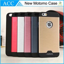Wholesale Iphone 4s Silver - MOTOMO Metal & PC Hybrid Case For iPhone 4S 5S 6 6 Plus iPhone6 6+ Brushed Pattern Cover Slim Back Case DHL 100pcs