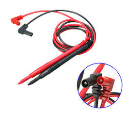 Wholesale Copper Probe - Hot Sale Ultra Pointed Gold Plated Copper 10A Multimeter Probes Test Leads Accessory for IC Electronic Parts LED order<$18no track