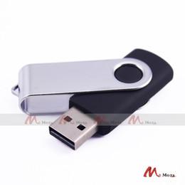 Wholesale Swivel Usb Memory Pen Drive - Lot Sell 10PCS USB2.0 4GB Black Swivel Memory USB Flash Pen Drive Key Storage Swivel Pendrive U Disk Thumb Stick Drives Good Quality