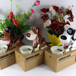 Wholesale Box Puppy - Quality Mechanical Adorable Puppy Hungry Robotic Dog Kid Coin Bank Save Saving Box Collection Piggy Bank