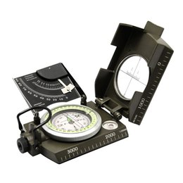 Wholesale Satellite Compass - Military Compass Sighting Compass Metal Survival Gear Hiking Satellite Armygreen