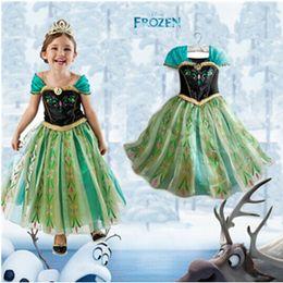 Wholesale Snow Cap Style - 2015 New Christmas Girls Dress Winter Anna Elsa princess Dresses Kids Clothes Children's Clothing Party Snow Queen Costume