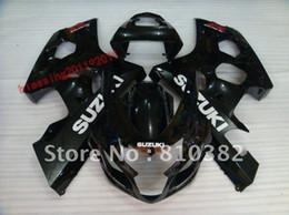 Wholesale Gsxr Plastics - HIGH QUALITY ABS PLASTIC fairing kit for SUZUKI GSXR 600 750 04-05 BLACK GSXR 2004 2005 GSXR600   750 04 05