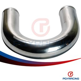 "Wholesale Aluminum Intake Pipe - PQY STORE-UNIVERSAL TUBE 2.5"" OD500MM CENTERLINE LENGTH 180 DEGREE MANDREL BENT ALUMINUM TURBO INTERCOOLER PIPE PQY-PP-180-50025"