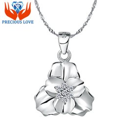 clover resin Coupons - S925 Silver Pendant pendant diamond hot goods lynx happiness Waratah clover flowers silver collar chain