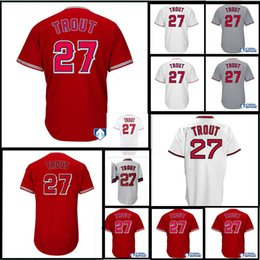 Wholesale Men S Tall - Men's Anaheim Mike Trout Scarlet Alternate Big & Tall Cool Base Player Jersey