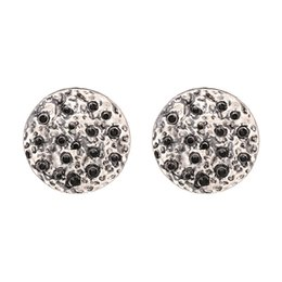 Wholesale ship chandelier for sale - Hot Sale Alloy Diamond Round Earrings Moon Shape Jewelry Display DIY Simple Gold Earring Designs for Women Free Shipping