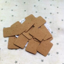 Wholesale Earrings Price Card - 2.5*3.5CM Mini size brown kraft paper handmade earring price tags retro gift hang tag 1000pcs lots free shipping