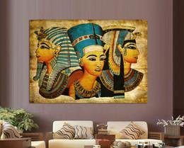 Pintura de egipto online-Nueva Llegada Faraón de Egipto Sin Marco Decoración Del Hogar Pinturas Moderna Pintura de Pared Abstracta, Envío Gratis A / 1453
