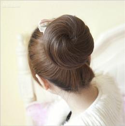 Wholesale Extension Girl - Fashion Womens Girls Synthetic Hair Bun Chignons Donut Bun Cover Clip in Hair Extensions Headwear Hair Accessories FJ05F