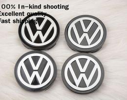 Wholesale Vw Jetta Emblem - 4 X 58MM BLACK Volkswagen WHEEL Hub Center LOGO Caps emblem Fits for VW Golf 6 Jetta MK5 MK6 POLO passat B5 B6 B7