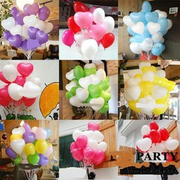Wholesale Hot Air Balloons Toys - 12inch Balloon Birthday Party Baloons Aniversario Decorations Air Balloons Love Heart Shape Balloon hot sale free shipping