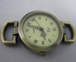 Wholesale Face Free Roman - bronze Roman vintage Watch faces Wholesale stainless steel watch dail Fit European Bracelet Handmade 10pcs lot Free shipping