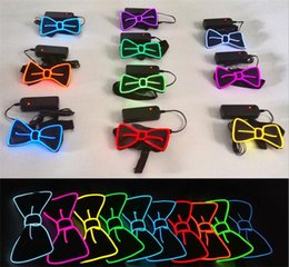 Canada Fashion LED Cravate Noeud de cou Lumious Cosplay Party DJ Club Glowing Halloween Illuminez Soirée Party A08 Offre
