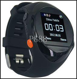 Wholesale Gps Mobile Tracking - NEW GPS Tracker Watch Phone PG88, GPS locator SOS Surveillance tracking Wrist Watch phone mobile cellphone Smart Watch