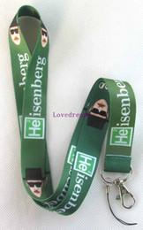 Canada Lot 20 Pcs Green Heisenberg Badge Lanyard pour les détenteurs de clés ID cassant les bretelles de cou de téléphone portable Bad Offre