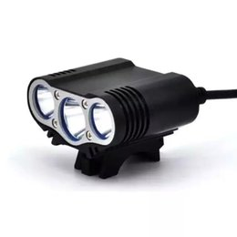 Wholesale Cree Solarstorm Light - 2015 New SolarStorm X3 bicycle light 3 x Cree XM-L U2 LED 5000 Lumens Bike Front Light with 18650 Battery Pack and charger