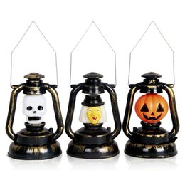 Wholesale Hanging Mask - Wholesale-NANUM Halloween Decoration LED Mask Pumpkin Kitch Skull Ghost Screaming Hanging Battery Lantern Outdoor Bar Night Light Lamp