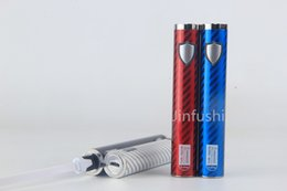 Wholesale Passthrough Ego Lcd - Jinfushi Machanical MOD 2200 mAh passthrough battery ecig micro usb 30wattage 2200mah TVR-1390 Vaporizer Vape Pen Kit ego passthrough lcd