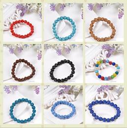 Pulseras de bolas brillantes online-Crystal 10mm Beads Bracelets Macrame Disco Ball brillante Pulseras elásticas Brazalete de la joyería Cheap China wrap charm pulseras 50pcs / lot