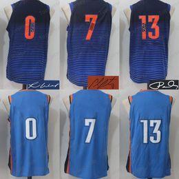 Wholesale Signature White - OKC 2018 New Basketball Jersey Men Women Youth,Signature Retro Kids, 0 7 13 ,USA Dream Team All Star Embroidery Logo