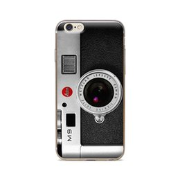 Wholesale Iphone 4s Camera Cases - Wholesale For iPhone 4 4S 5 5S 5C 6 6S 6Plus Of Camera Lens Design Of Skin TPU Silicone Gel Protective Cover