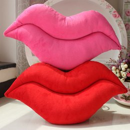 Wholesale Toys Doll Girl Sexy - Wholesale- Sexy lips Big pillow lovely lips Creative novelty plush dolls 45cm children toy home decor soft cushion valentine's gift