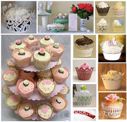 2019 18 bolos de aniversário Fabricantes de gelo branco exportar bolo copos oco-out em torno da borda do casamento idéias através de venda direta atacado flor rendas