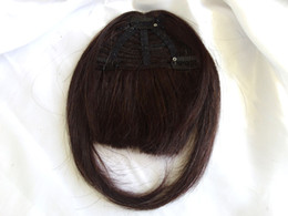 Wholesale Bang Real Human Hair - Multi-color 100% Real Human Hair Bangs,12 Colors Available Bang Fringes Clip In On Hair Extensions,1pc Virgin Remy Silky Straight Neat Bangs