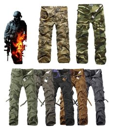 Wholesale Mens Army Camo Cargo Pants - 2017 Worker Pants CHRISTMAS NEW MENS CASUAL MILITARY ARMY CARGO CAMO COMBAT WORK PANTS TROUSERS 11 COLORS SIZE 28-38