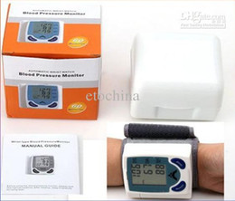 Wholesale Digital Wrist Heart Blood Pressure - New Wrist Cuff LCD Digital Blood Pressure Pulse Monitor Heart Beat Meter, with LCD Display in retail box