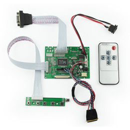 Lvds tft lcd controlador online-Nuevo 2AV VGA 50PIN TTL LVDS Driver Controller Board Module con Remote Kit para Raspberry PI 2 TFT LCD Display Panel DIY Monitor