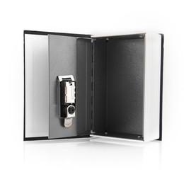 Wholesale Security Dictionary Cash Box - High Quality Black Dictionary Hidden Secret Book Design Valuables Secretive Money Cash Box Security Code Key With Lock Gift