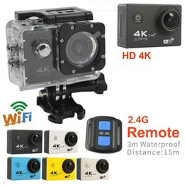 Wholesale Helmet Camera Full Hd - 4K sports camera HD 1080P action cameras Helmet cameras Waterproof Sport DV Bicycle skate Recording Camcorde with 2.4G remote control JBD-M9