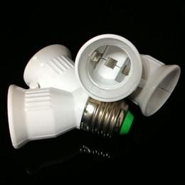 Wholesale Holder Splitter - 10pcs E27 to 2xE27 LED Light Lamp Bulb Adapter Converter Splitter Holder