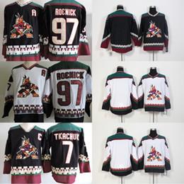 Wholesale Aztec Red - Phoenix Coyotes Vintage Jersey 7 Keith Tkachuk 97 Jeremy Roenick Blank Starter Throwback 90s White Black Aztec AZ VTG Ice Hockey Jerseys