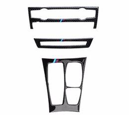 Wholesale Bmw X6 Carbon Fiber - Carbon Fiber Interior Control Gear Shift Frame Cover Trim For BMW X5 E70 X6 E71 Air Conditioning CD Panel Decals     Sports