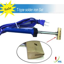 Wholesale Soldering T - Loca UV Glue Clean Tool 60W 80mm T-Type Solder Iron for Cell Phone LCD Polarizer Separation Repairing Parts